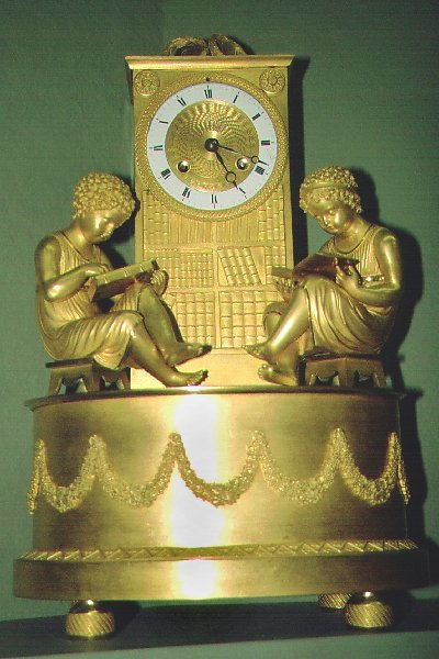 Mantel Clock- Gilt bronze, Louis XVI style. French, late 18th century.